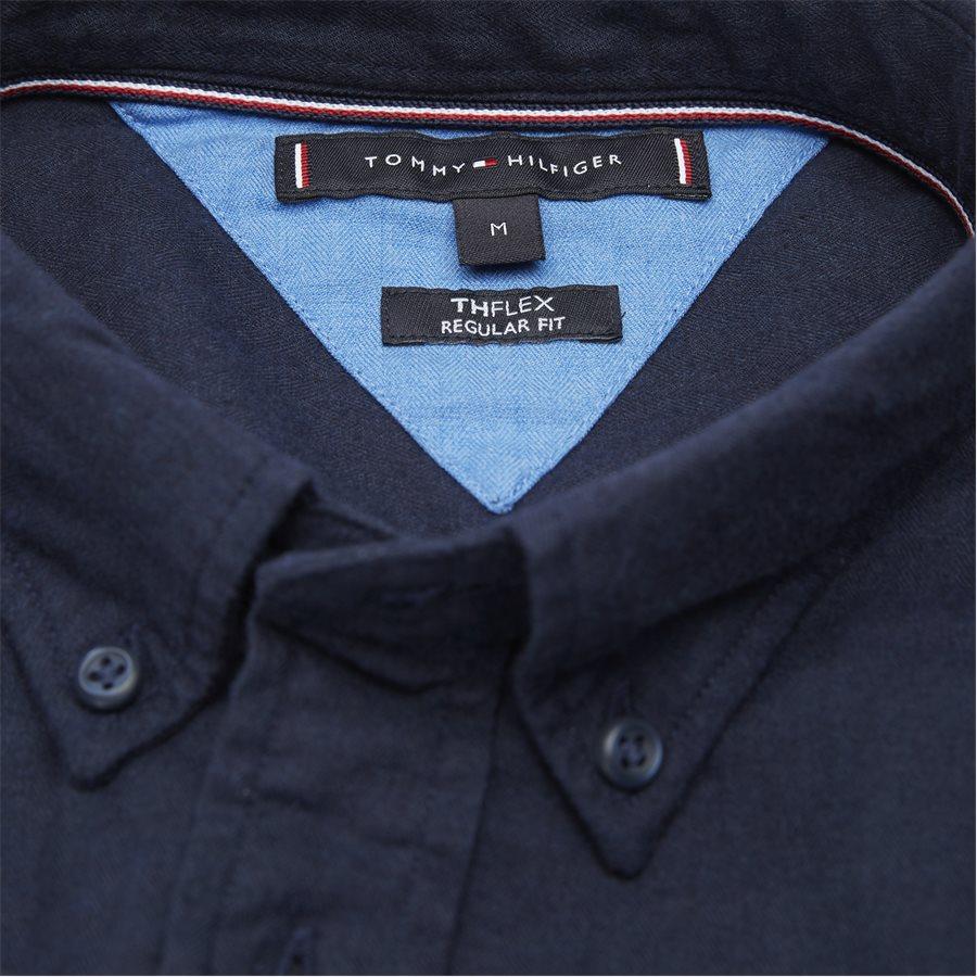 FLEX HERRINGBONE SHIRT - Flex Herringbone Shirt - Skjorter - Regular - NAVY - 4