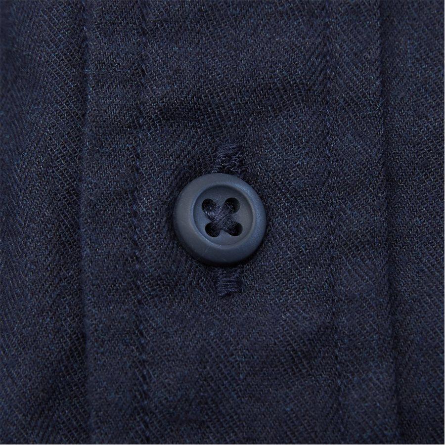 FLEX HERRINGBONE SHIRT - Flex Herringbone Shirt - Skjorter - Regular - NAVY - 6
