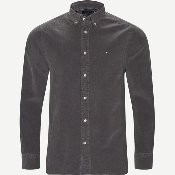 Garment Dyed Corduraoy Shirt - Skjorter - Regular - Grå