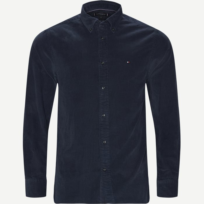 Garment Dyed Corduraoy Shirt - Skjorter - Regular - Blå
