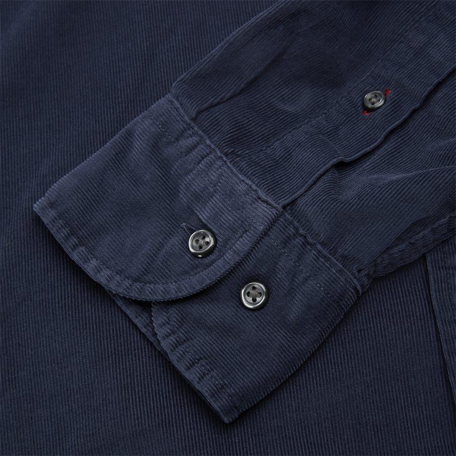 GARMENT DYED CORDUROY SHIRT - Garment Dyed Corduraoy Shirt - Skjorter - Regular - NAVY - 4