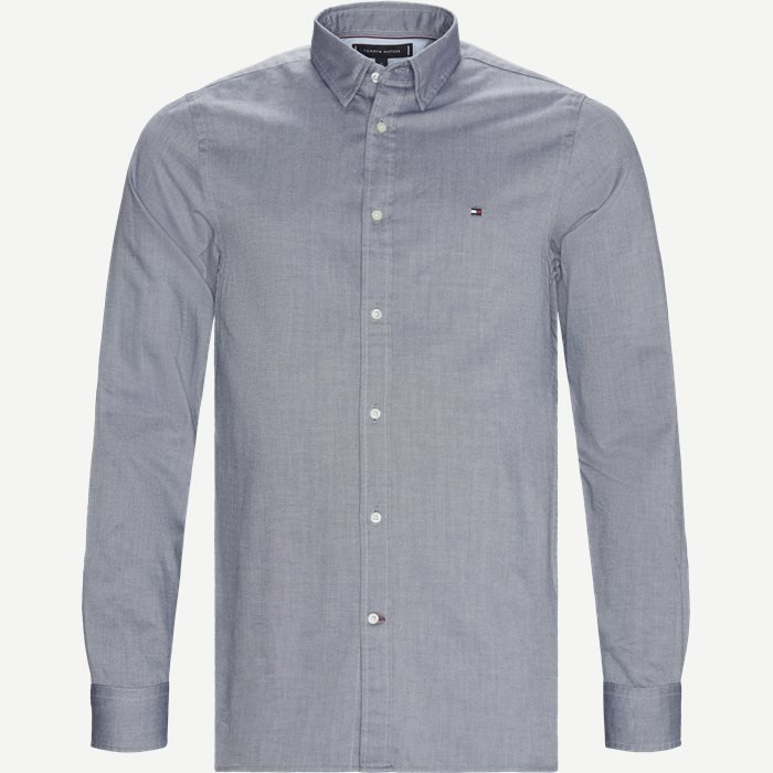 Slim 4 Way Stretch Shirt - Skjorter - Slim - Blå