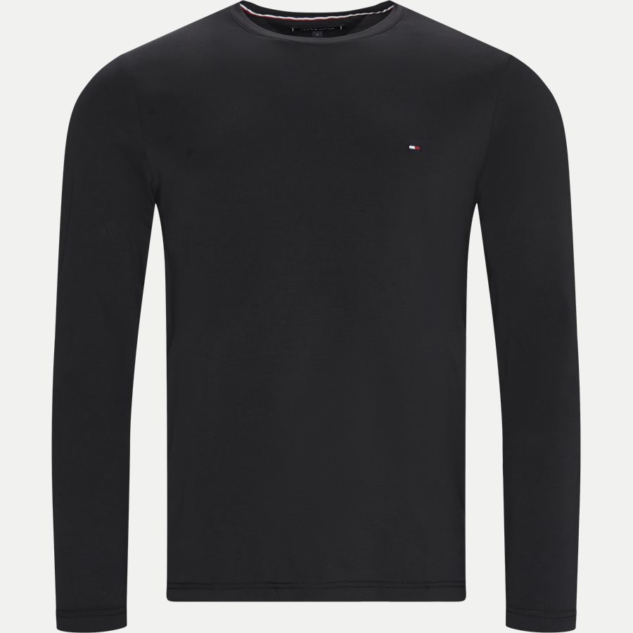 STRETCH SLIM FIT LONG SLEEVE TEE - Stretch Slim Fit Long Tee - T-shirts - Slim - SORT - 1