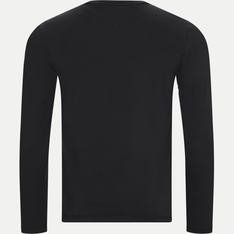 STRETCH SLIM FIT LONG SLEEVE TEE - Stretch Slim Fit Long Tee - T-shirts - Slim - SORT - 2