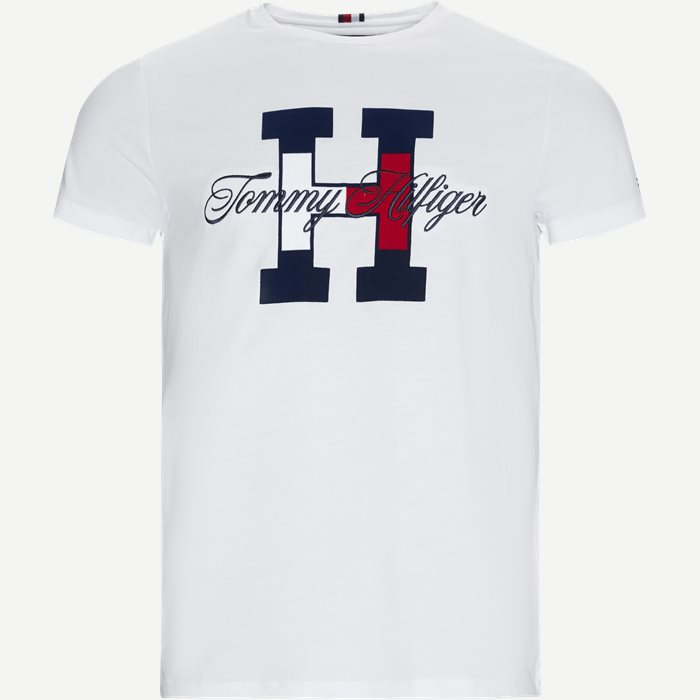 Flag Script Tee - T-shirts - Regular - Hvid