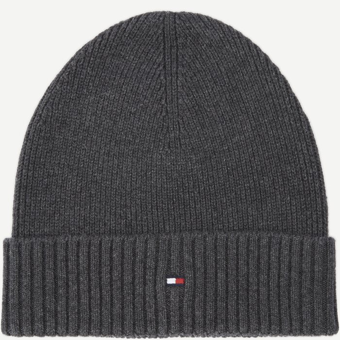 Pima Cotton Beanie - Caps - Grå