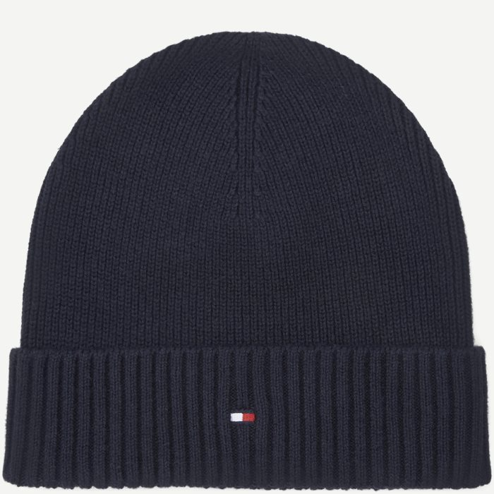Pima Cotton Beanie - Caps - Blå