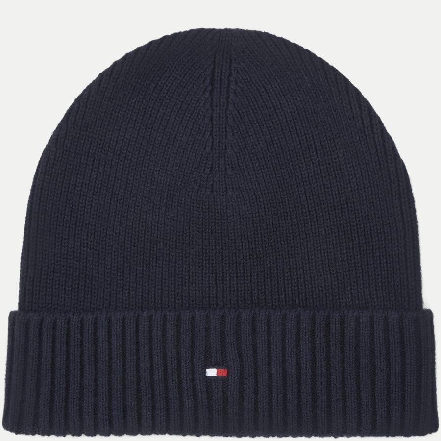 PIMA COTTON BEANIE - Pima Cotton Beanie - Caps - NAVY - 1