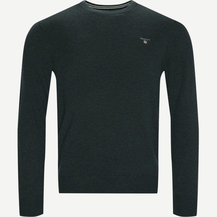 Superfine Lambswool Crew Neck Knit - Strik - Regular - Grøn
