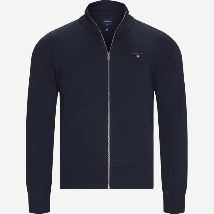 The Original Full Zip Cardigan - Strik - Regular - Blå