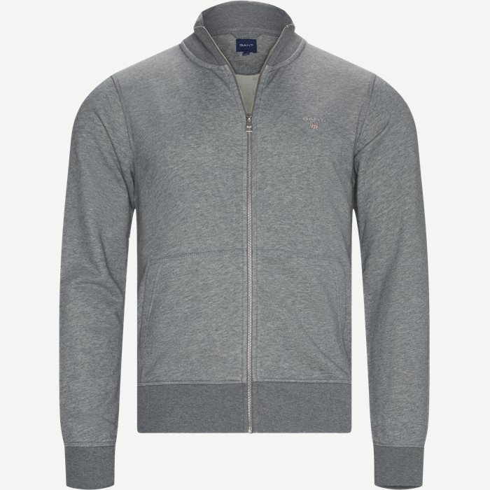 The Original Full Zip Cardigan - Strik - Regular - Grå