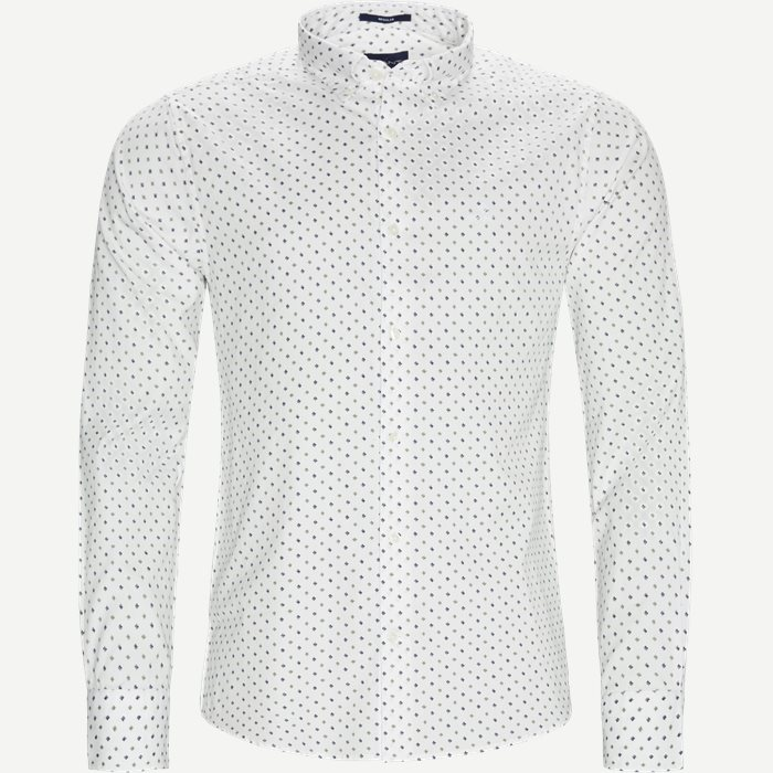 D1 Micro Scribble Print Shirt - Skjorter - Regular - Grøn
