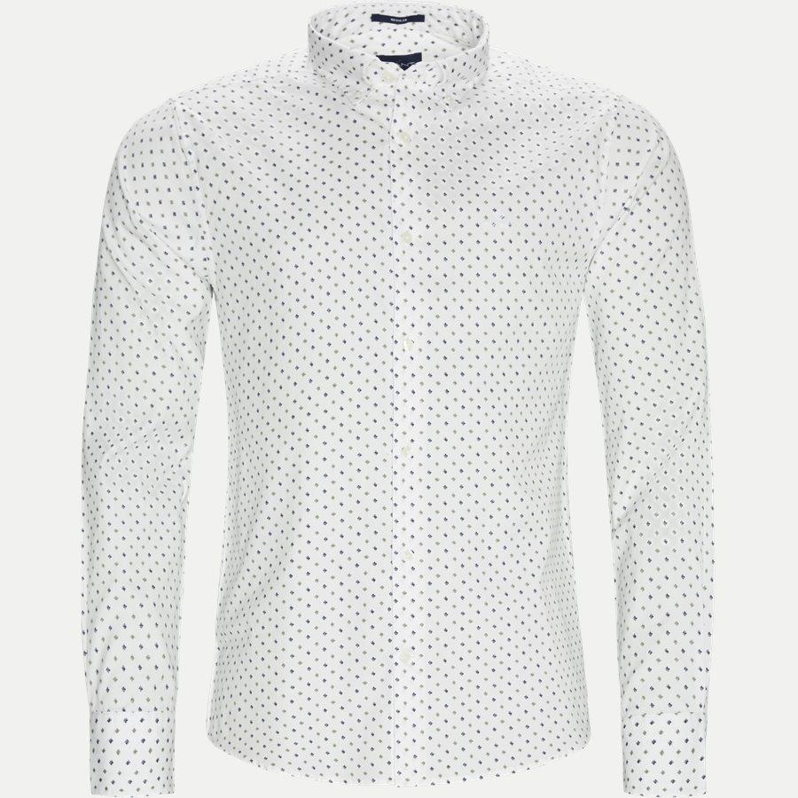 D1 MICRO SCRIBBLE PRINT - D1 Micro Scribble Print Shirt - Skjorter - Regular - GRØN - 1