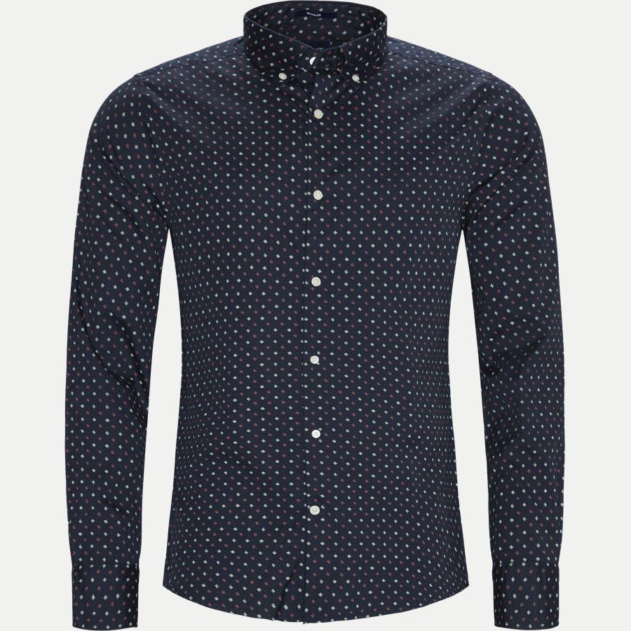 D1 MICRO SCRIBBLE PRINT - D1 Micro Scribble Print Shirt - Skjorter - Regular - NAVY - 1