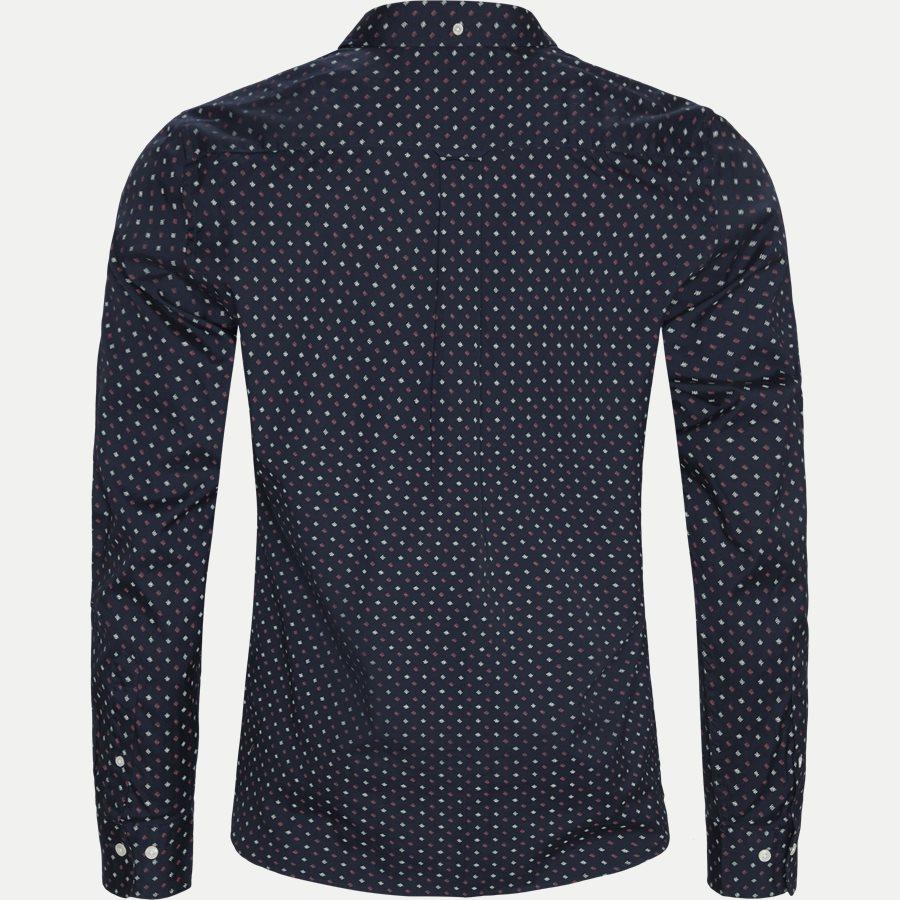 D1 MICRO SCRIBBLE PRINT - D1 Micro Scribble Print Shirt - Skjorter - Regular - NAVY - 2