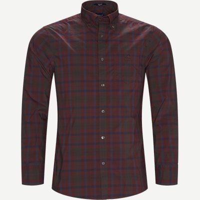 D2 TP Broadcloth Plaid Skjorte Regular | D2 TP Broadcloth Plaid Skjorte | Bordeaux