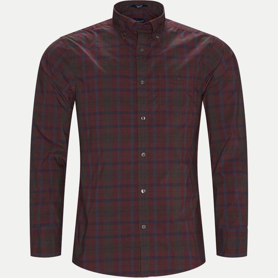 D2 TP BROADCLOTH PLAID - D2 TP Broadcloth Plaid Skjorte - Skjorter - Regular - BORDEAUX - 1