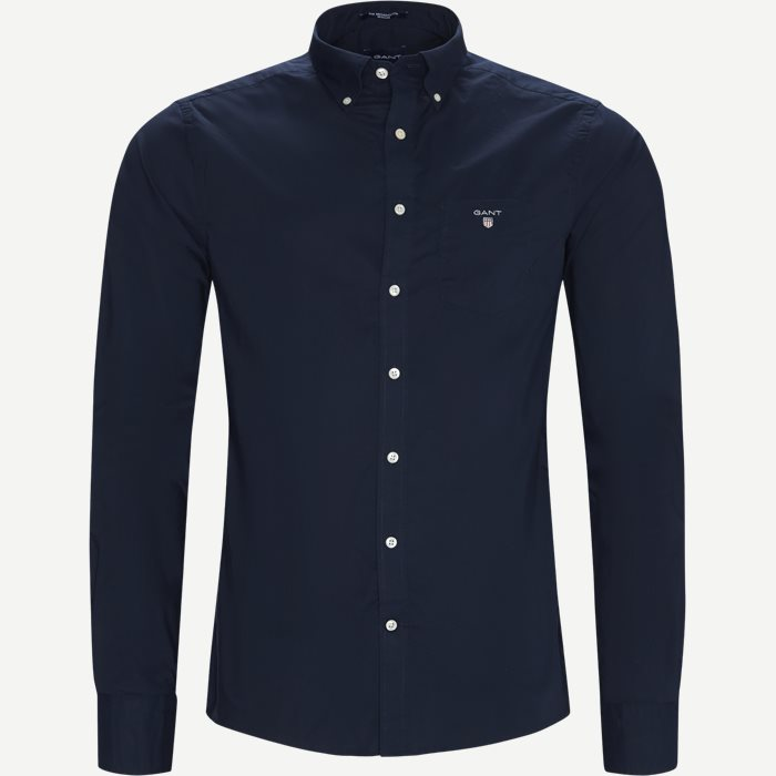 The Broadcloth Shirt - Skjorter - Regular - Blå