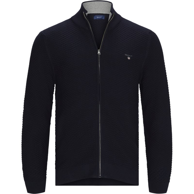 Image of   Gant - D1 Triangle Texture Fullzip Cardigan