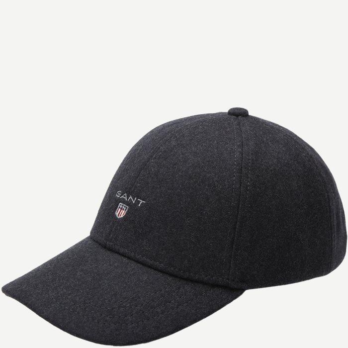 Melton Cap - Caps - Grå