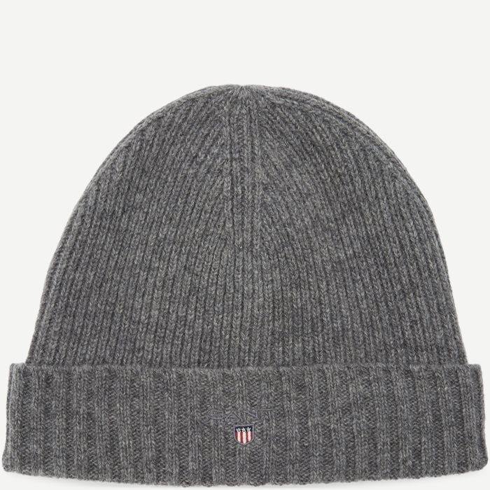 Wool Lined Beanie - Caps - Grå