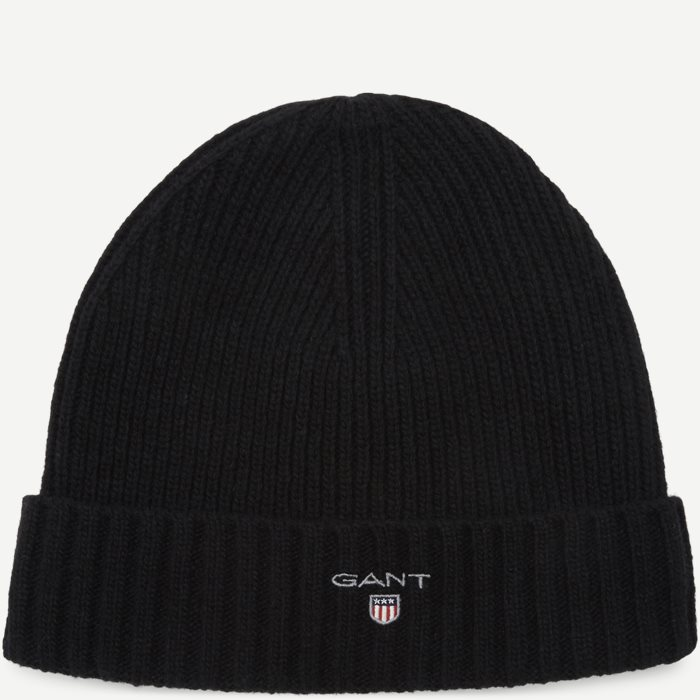 Wool Lined Beanie - Caps - Sort
