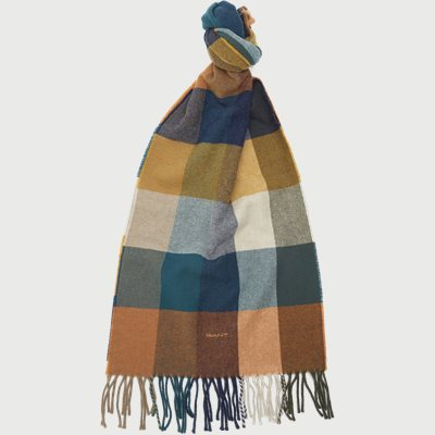 D2 Multi Check Wool Scarf D2 Multi Check Wool Scarf | Orange