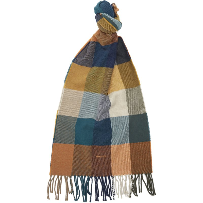 Image of   Gant - D2 Multi Check Wool Scarf