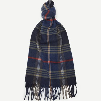 D2 Twill Checked Wool Scarf D2 Twill Checked Wool Scarf | Blå