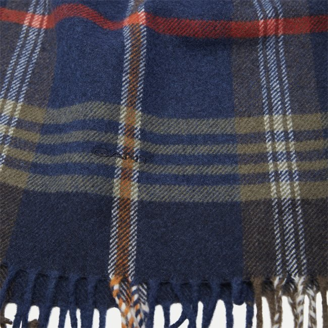 D2 Twill Checked Wool Scarf