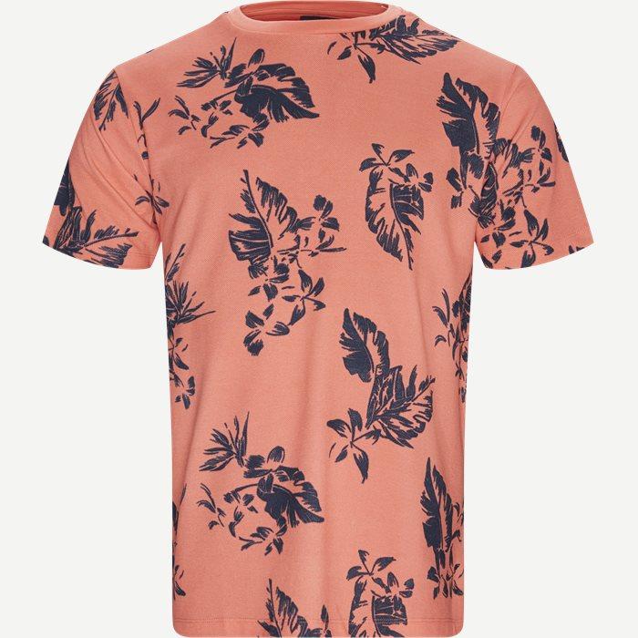 Crew Neck T-shirt - T-shirts - Regular - Orange