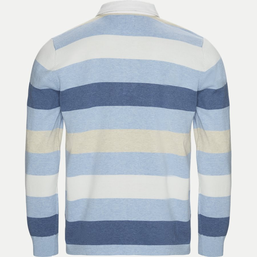1640 RUGGER KNITTED STRIPED - Langærmet Polo T-shirt - T-shirts - Regular - LYSBLÅ - 2