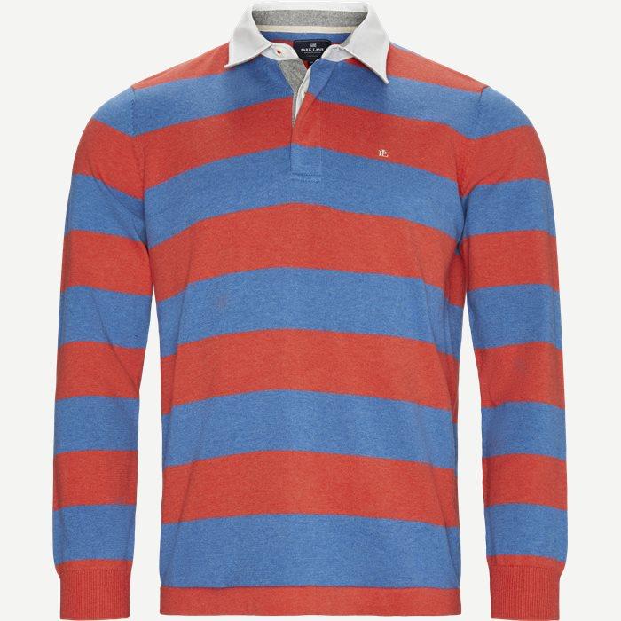 Langærmet Polo T-shirt - T-shirts - Regular - Rød