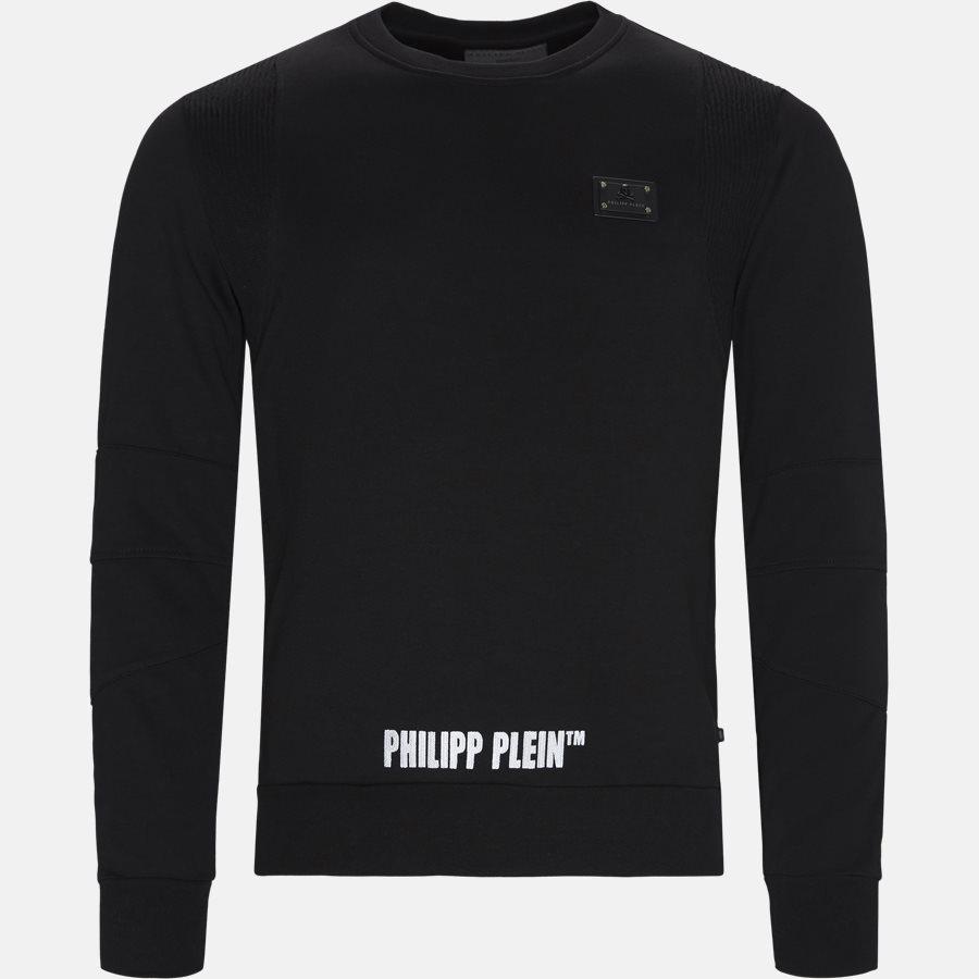 MJO620 PO002N - Sweatshirts - Regular fit - SORT/HVID - 1