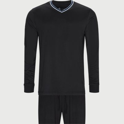Jersey Pyjamassæt  Regular | Jersey Pyjamassæt  | Sort
