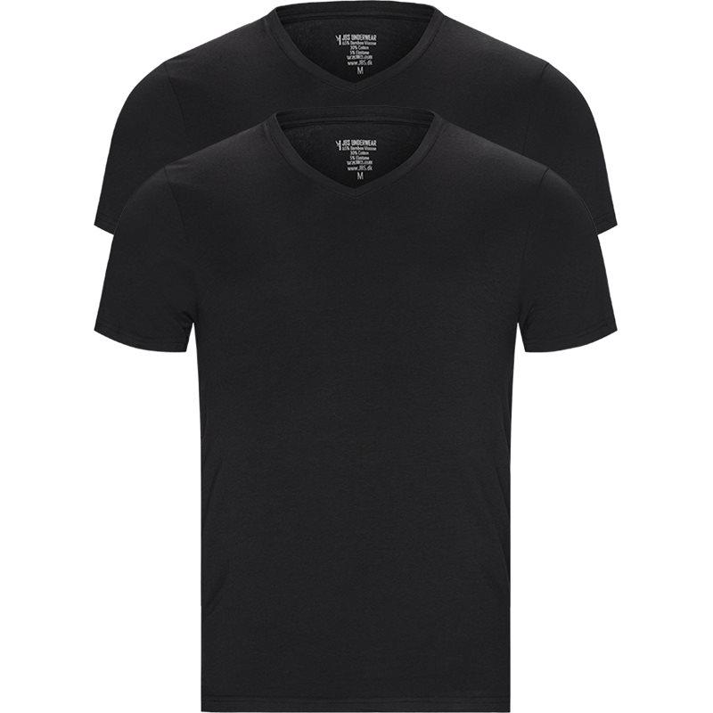 Jbs - bamboo v-neck t-shirt 2-pack fra jbs på kaufmann.dk