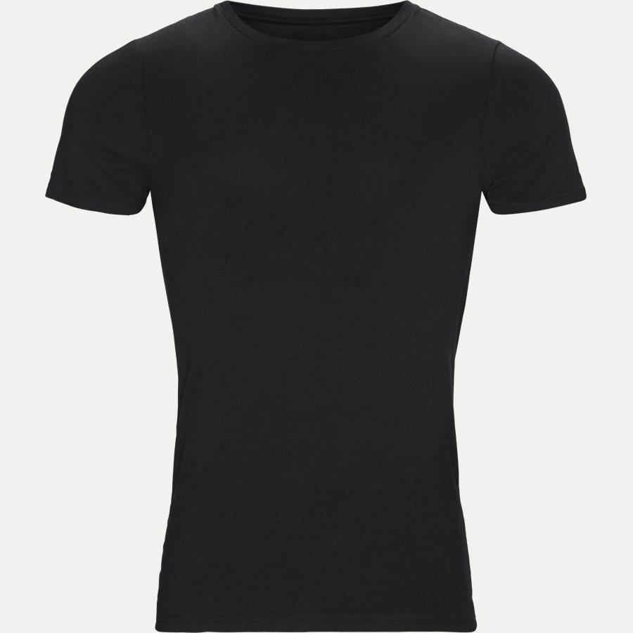 1080-2 BAMBOO 2-PACK O-NECK - Bamboo Crew Neck T-shirt 2-pack - Undertøj - Regular - SORT - 2
