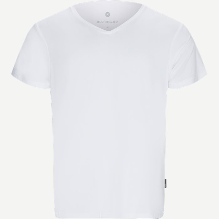 Bamboo Blend V-neck T-shirt - Undertrøjer - Regular - Hvid