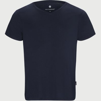 Bamboo Blend V-neck T-shirt Regular | Bamboo Blend V-neck T-shirt | Blå