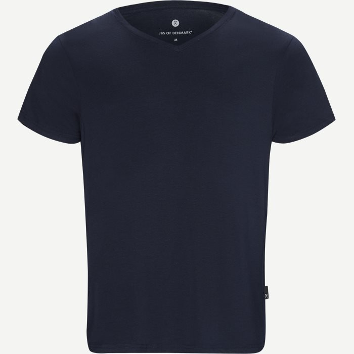 Bamboo Blend V-neck T-shirt - Undertrøjer - Regular - Blå