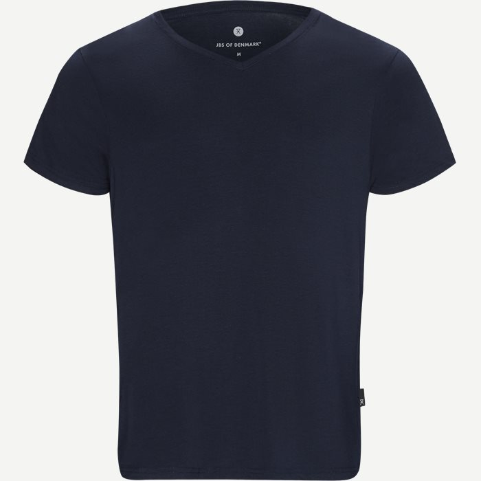 Bamboo Blend V-neck T-shirt - Undertøj - Regular - Blå