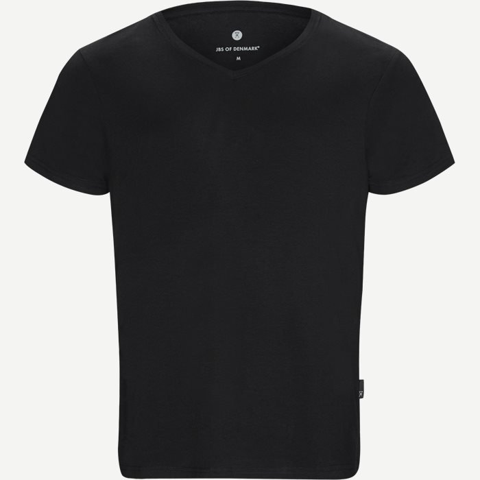 Bamboo Blend V-neck T-shirt - Undertrøjer - Regular - Sort