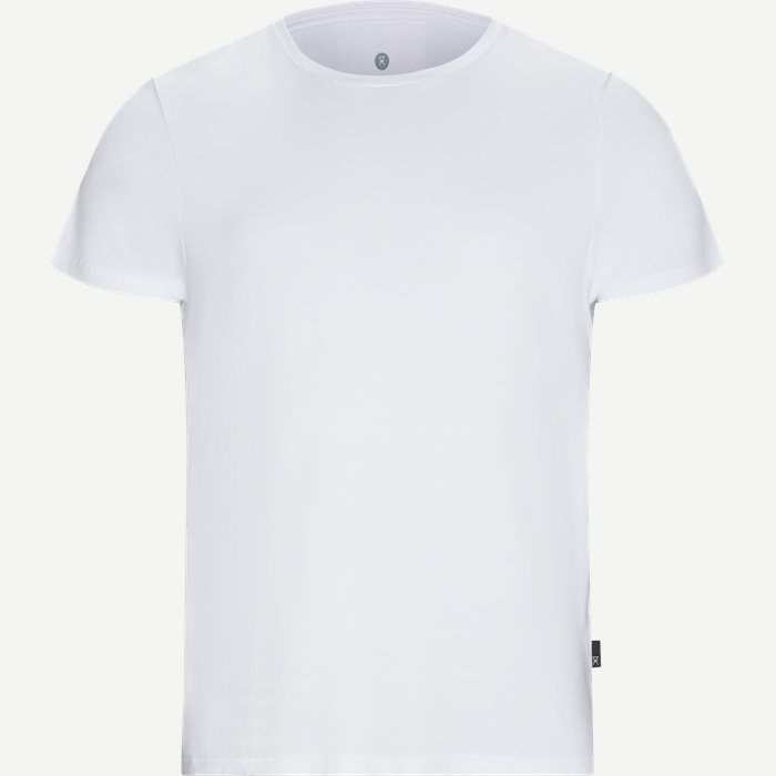 Bamboo Blend Crew Neck T-shirt - Undertrøjer - Regular - Hvid