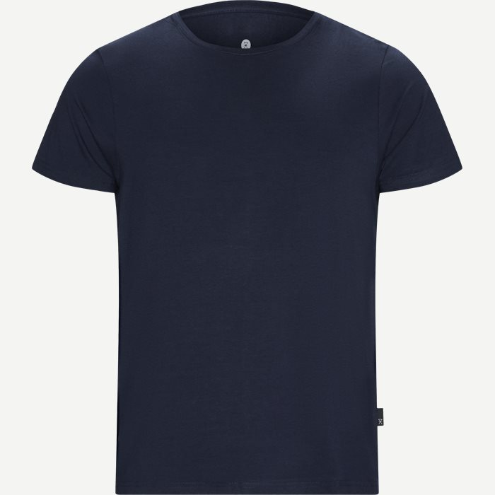 Bamboo Blend Crew Neck T-shirt - Undertrøjer - Regular - Blå