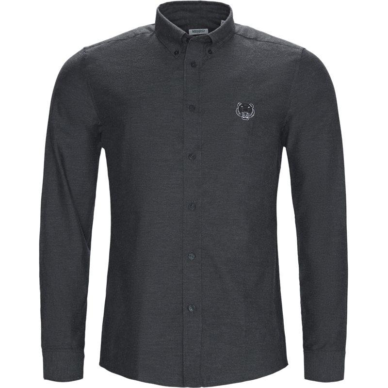 Kenzo slim f965ch2041gf skjorter grå fra kenzo fra axel.dk