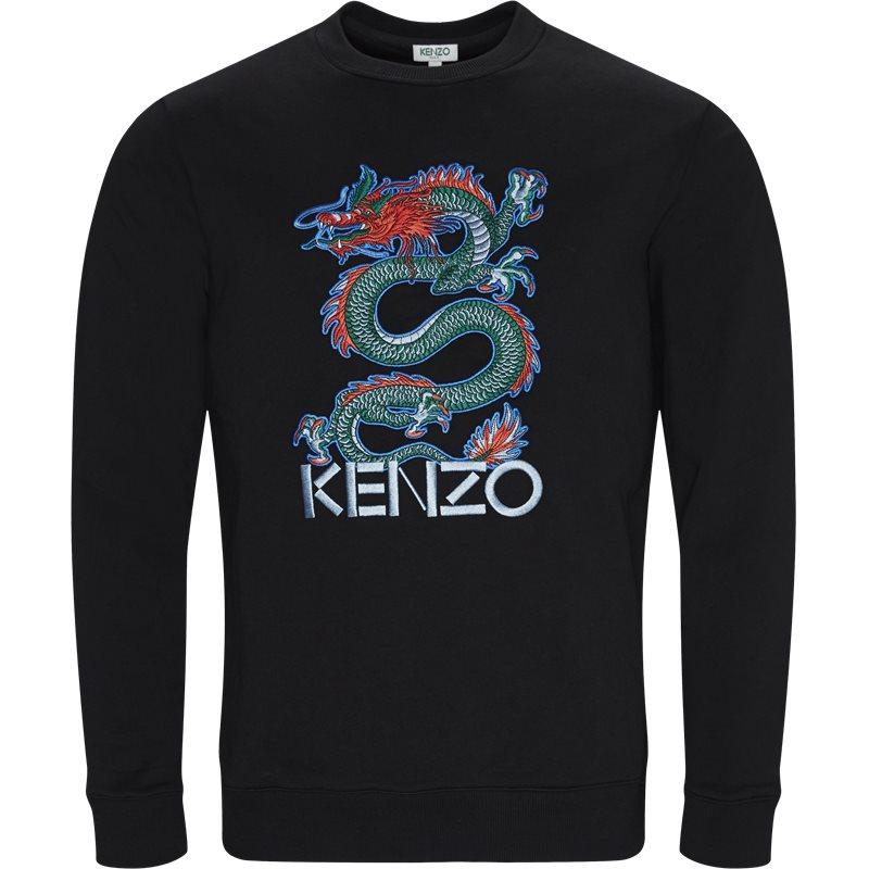 kenzo Kenzo regular fit w1214me sweatshirts sort fra axel.dk
