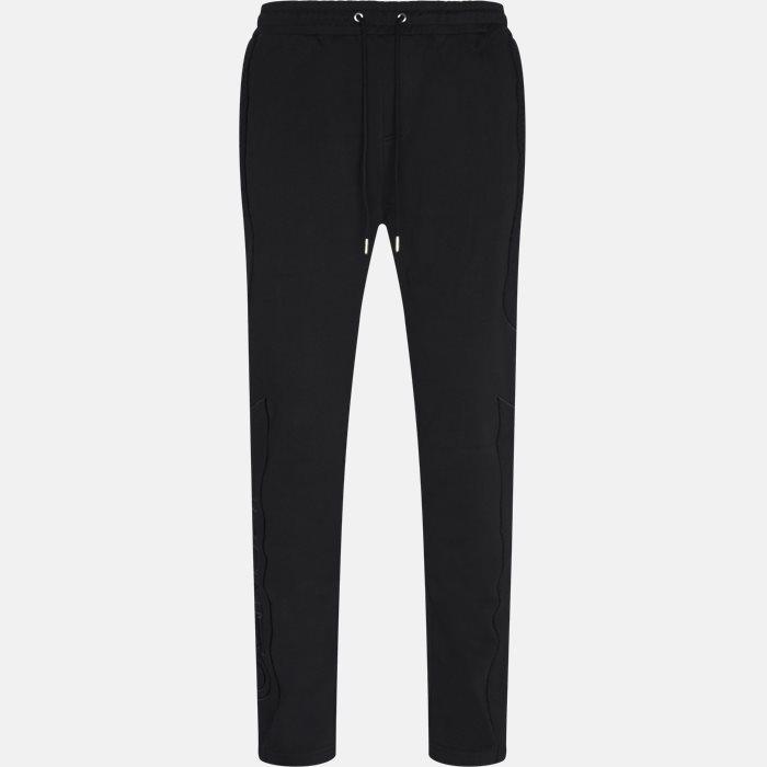Trousers - Regular slim fit - Black