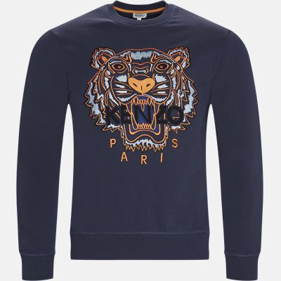 Regular slim fit | Sweatshirts | Blå