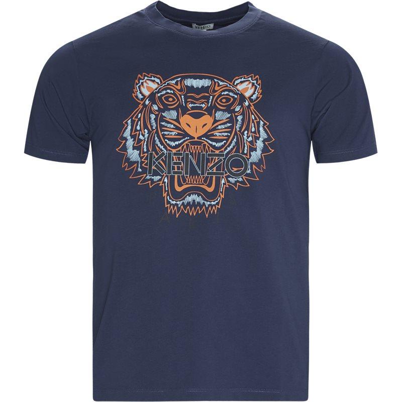 kenzo Kenzo slim tso504ya t-shirts navy på axel.dk