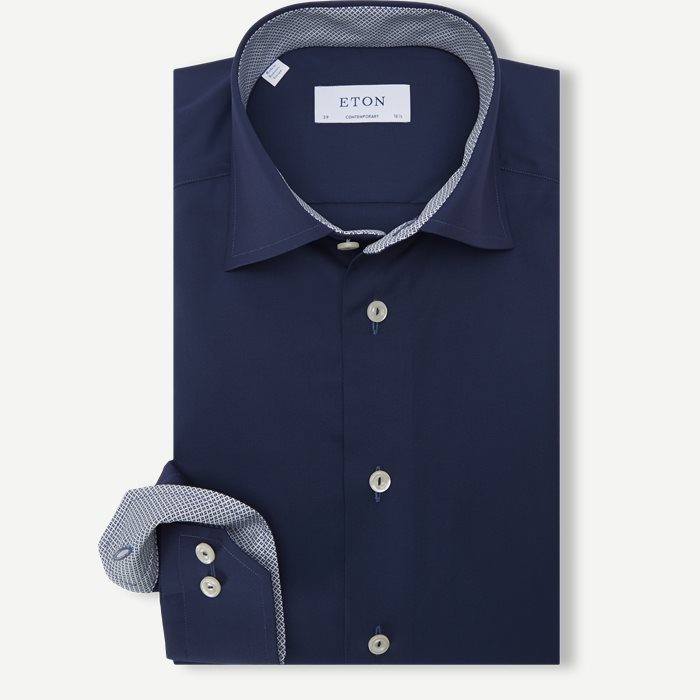 1000 Poplin Skjorte - Skjorter - Contemporary fit - Blå